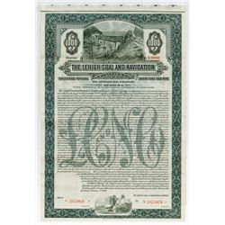 Lehigh Coal and Navigation Co., 1914 Specimen Bond