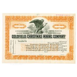 Goldfield Christmas Mining Co., ca.1910-1920 Specimen Stock Certificate