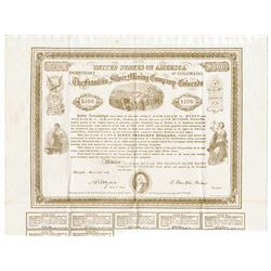 Franklin Silver Mining Co. of Colorado., 1869 Issued Stock Certificate