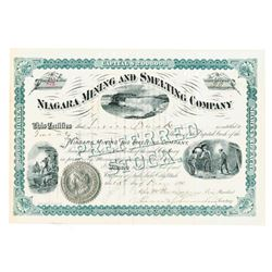Niagara Mining and Smelting Co., 1890 Issued Stock Certificate