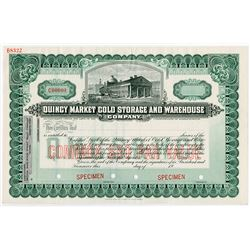 Quincy Market Cold Storage and Warehouse Co. 1900-1920 Specimen Stock.