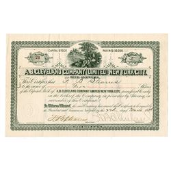 A.B. Cleveland Company Ltd., New York City Seed Growers, 1886 Seed Company Stock Certificate.