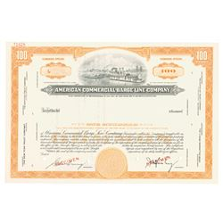 American Commercial Barge Line Co., ca.1930-1940 Specimen Stock Certificate