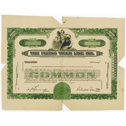 Flying Tiger Line Inc., ca.1940-1950 Proof Stock Certificate
