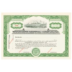 Mississippi Shipping Co., ca.1940-1950 Specimen Stock Certificate