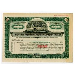 Lincoln Park Transportation Co. ca. 1900-1910 Specimen Stock.
