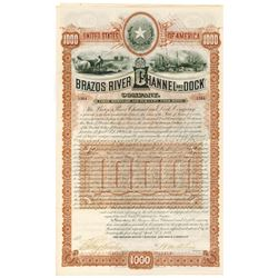 Brazor River Channel and Dock Co., 1889 I/U Bond