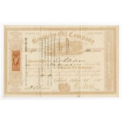 Kentucky Oil Co., 1865 Stock Certificate.
