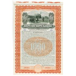 South and North Alabama Railroad Co., 1904 Specimen Bond