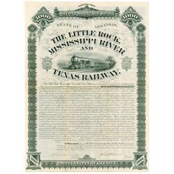 Little Rock, Mississippi River and Texas Railway, 1881 Issued Bond