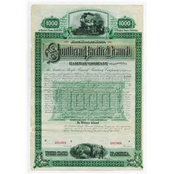 Southern Pacific Branch Railway Co. of California, 1887 Specimen Bond