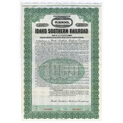 Idaho Southern Railroad Co., 1909 Specimen Bond