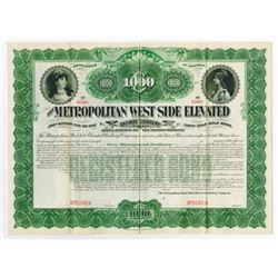 Metropolitan West Side Elevated Railroad Co., ca.1890-1900 Specimen Bond.