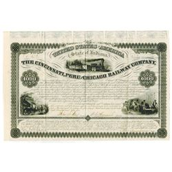 Cincinnati, Peru and Chicago Railway Co., 1855 Issued Bond