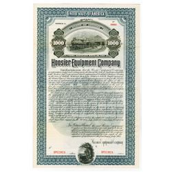 Hoosier Equipment Co. 1902 Specimen Bond.