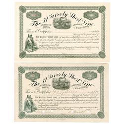 Waverly Short Line, 1895 Pair of Certificates