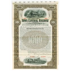 Iowa Central Railway Co. 1901 Specimen Bond