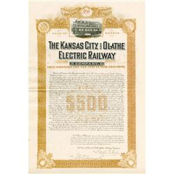 Kansas City and Olathe Electric Railway Co., 1903 Issued Bond