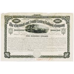 Cincinnati and South Eastern Railway Co., 1881 Proof Bond