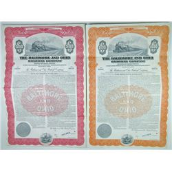 Baltimore and Ohio Railroad Co., 1946 Pair of Specimen Bonds