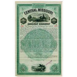 Central Missouri Railway Co. 1887 Specimen Bond