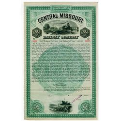 Central Missouri Railway Co. 1887 Specimen Bond