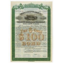 Canadaigua Street Railroad Co., 1887 Specimen Bond.