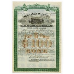 Canadaigua Street Railroad Co., 1887 Specimen Bond.