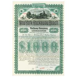 New York and Rockaway Beach Railway Co., 1887 Specimen Bond