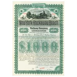 New York and Rockaway Beach Railway Co., 1887 Specimen Bond