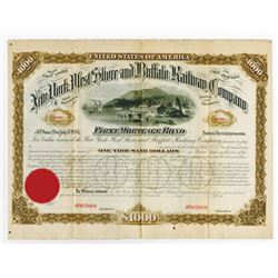 New York, West Shore and Buffalo Railway Co., ca.1860-1870s Specimen Bond