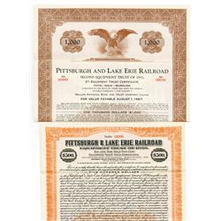 Pittsburgh & Lake Erie Railroad Co., Equipment Trust of 1920 Specimen Bond Pair