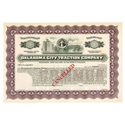 Oklahoma City Traction Co., ca.1910-1920 Specimen Stock Certificate