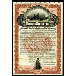 Oregon Shortline Railroad Co. 1897 Specimen Bond.