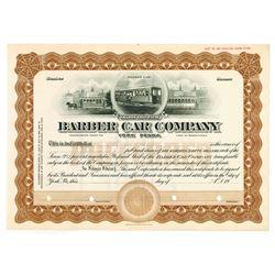 Barber Car Co., ca.1920-1930 Specimen Stock Certificate