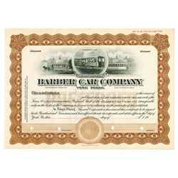 Barber Car Co., ca.1920-1930 Specimen Stock Certificate