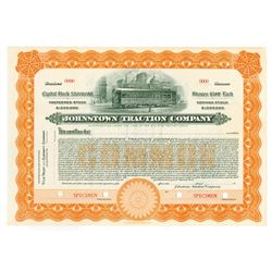 Johnstown Traction Co., ca.1910-1920 Specimen Stock Certificate
