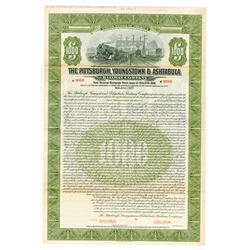 Pittsburgh, Youngstown & Ashtabula Railway Co. 1927 Specimen Bond