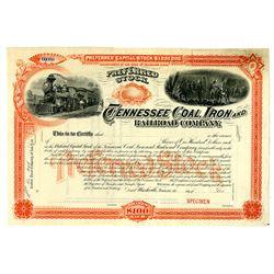 Tennessee Coal, Iron and Railroad Co., ca.1890-1900 Specimen Stock