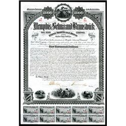 Memphis, Selma and Brunswick Railroad Co. Bond.