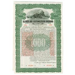 El Paso and Southwestern Railroad Co., 1915 Specimen Bond