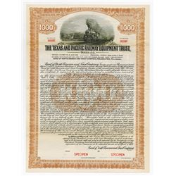 Texas and Pacific Railway Equipment Trust, 1927 Specimen Bond