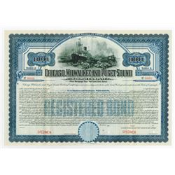 Chicago, Milwaukee and Puget Sound Railway Co., 1909 Specimen Bond
