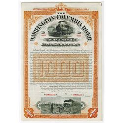 Washington and Columbia River Railway Co., 1893 Specimen Bond