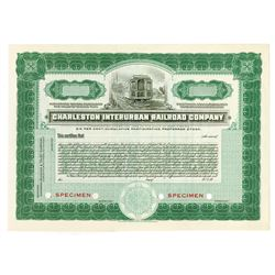 Charleston Interurban Railroad Co., ca.1910-1920 Specimen Stock Certificate