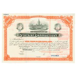 State of Connecticut, ca.1890-1900 Specimen Bond