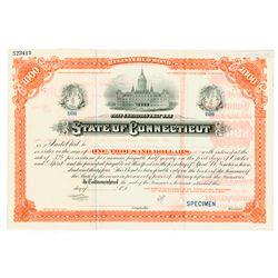 State of Connecticut, ca.1890-1900 Specimen Bond