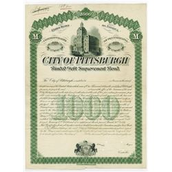 City of Pittsburgh, 1881 Proof Bond