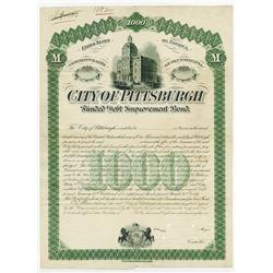 City of Pittsburgh, 1881 Proof Bond