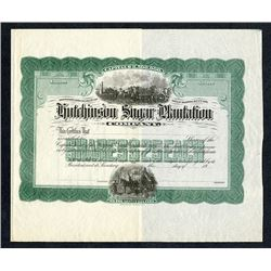 Hutchinson Sugar Plantation Co., ND (ca.1900) Proof Stock Certificate.